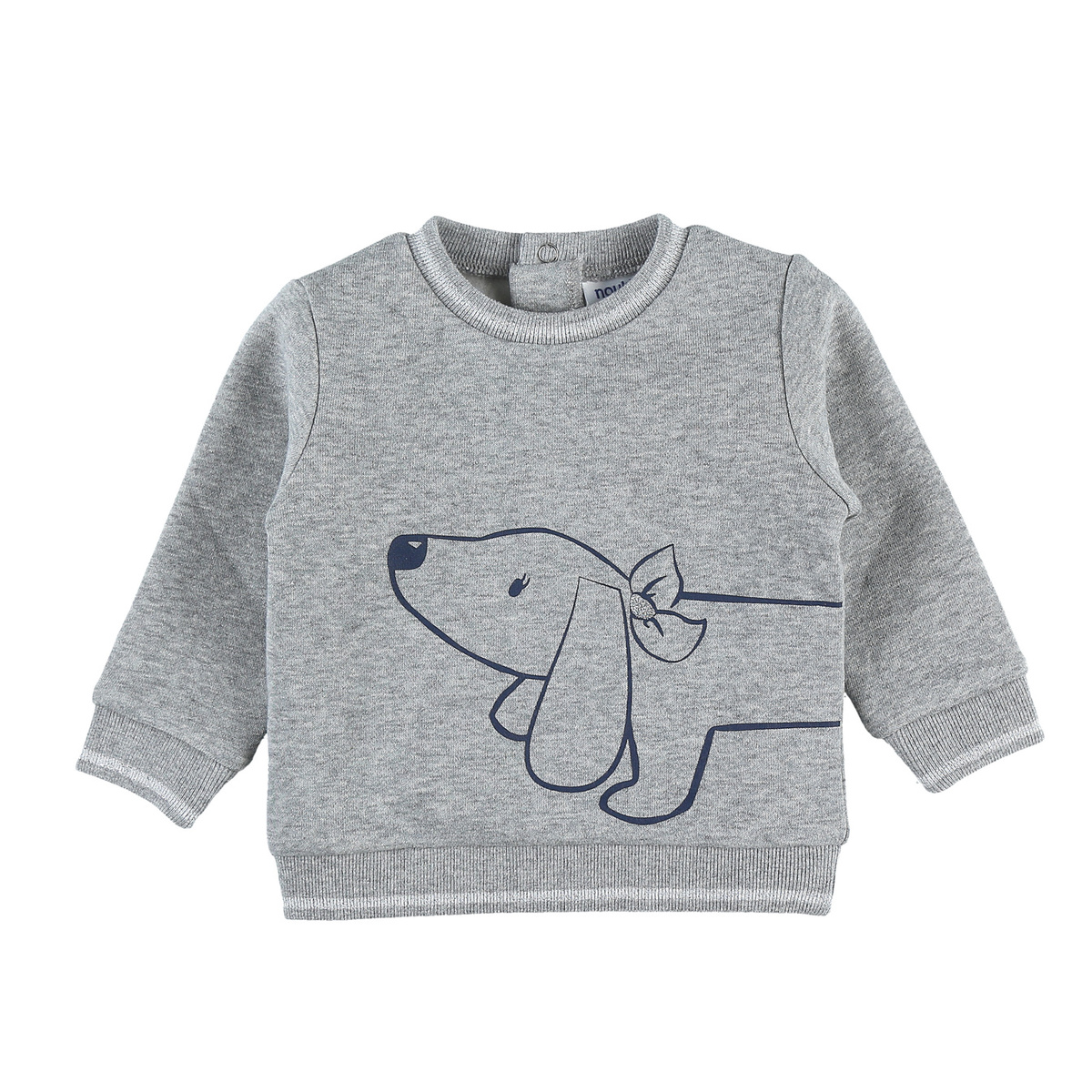 Sweat gris chiné et lurex chien