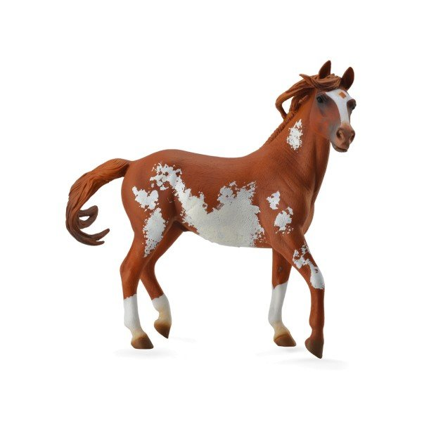 Figure stallion brown and white deluxe