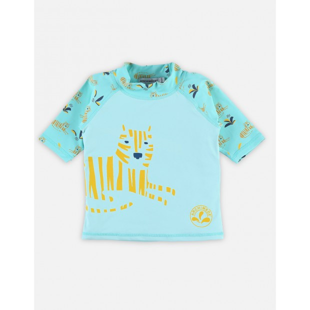 Anti-UV turquoise top with tigers