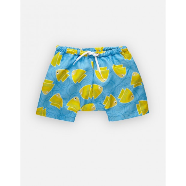 Fishy Blue Swimshorts Double Protection