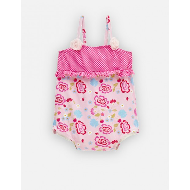 Pom-Pom Pink Baby Swimsuit Double Protection