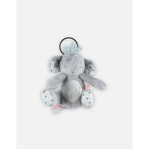 Light grey Anna Veloudoux soft keyring from the Anna & Milo collection
