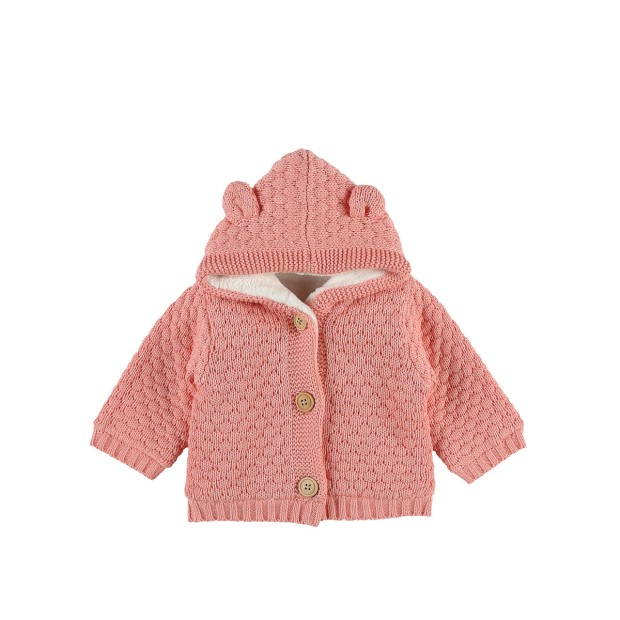 Pink hooded Tricoloudoux mantelet