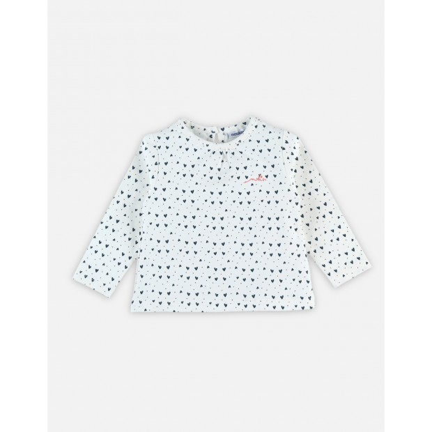 T-shirt with long sleeves and little hearts