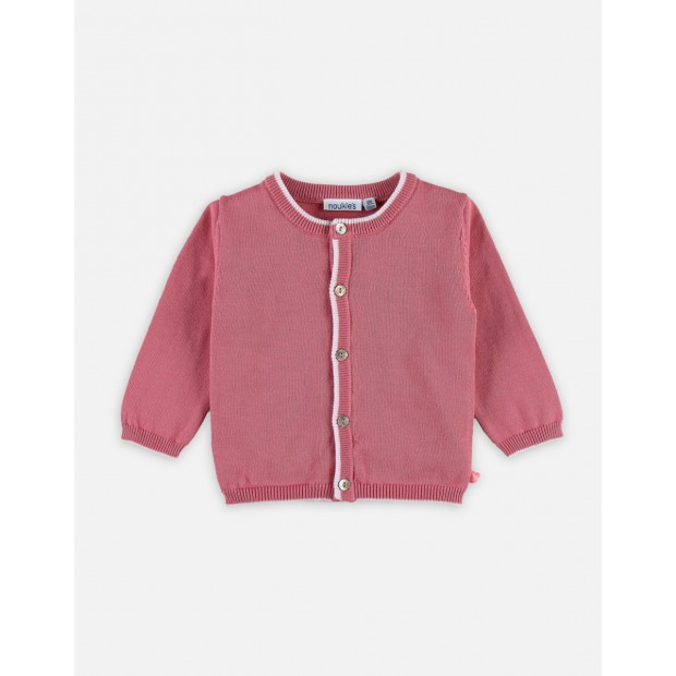 Pink Cocon cardigan with long sleeves