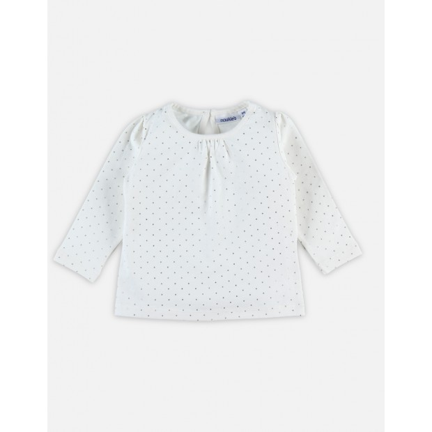 Off white t-shirt with silver dots