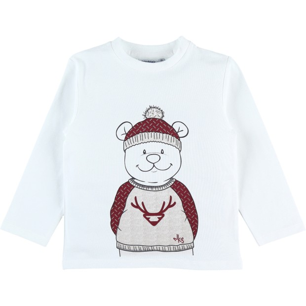 T-shirt Long sleeves Cotton White Nouky