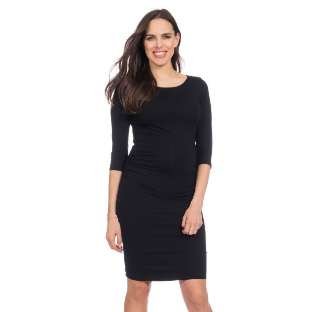 Black Maternity Shift Dress