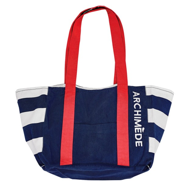 Navy And Aquaa Beach Bag