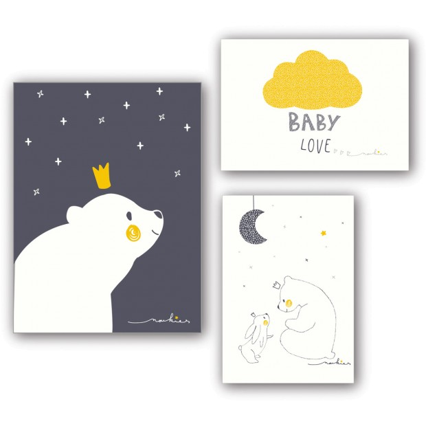 Gaby & Sam wall posters - set of 3