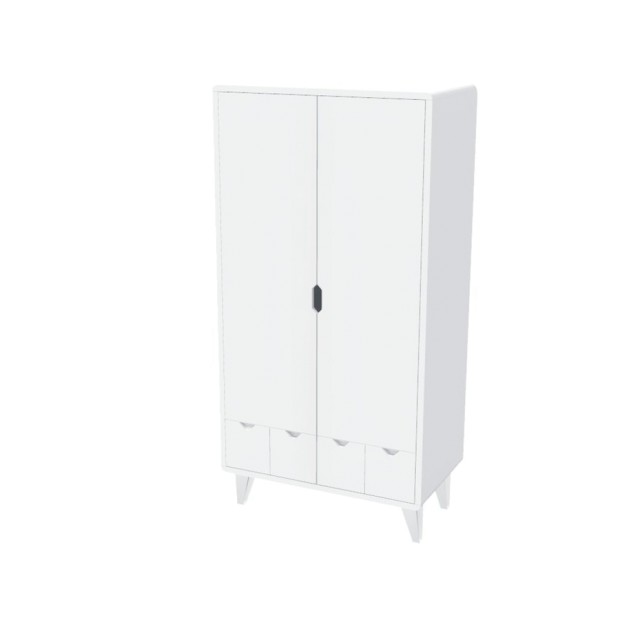 WardDress White Mont White 2 Doors