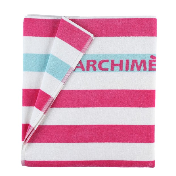 Towel Striped Terry Pink