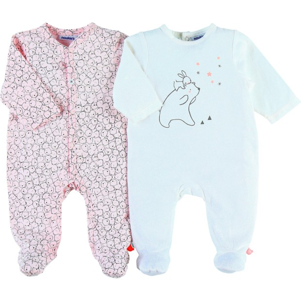 Pyjamas Cotton White & Pink
