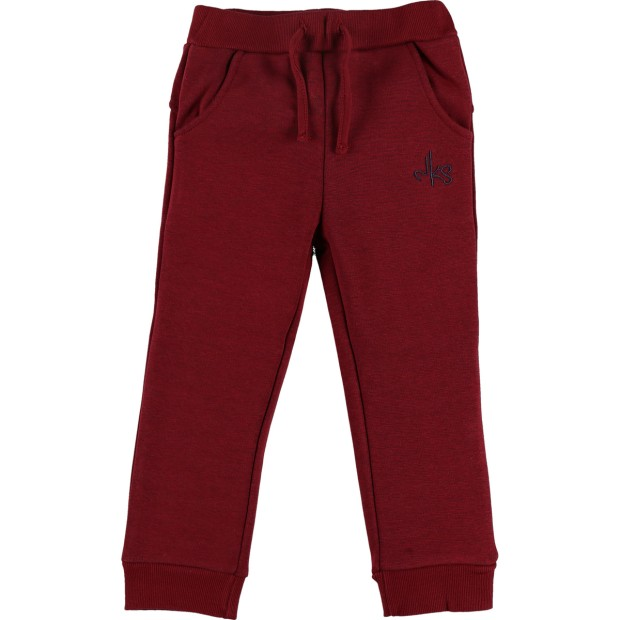 Comfortbroek in bordeauxrode Sweatloudoux