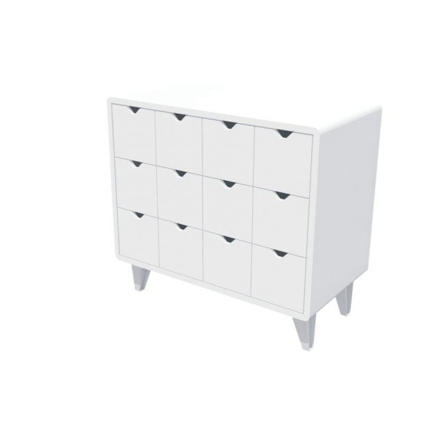 Chest Of Drawers White Mont White