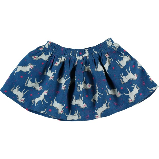 Skirt Cotton Blue Unicorn