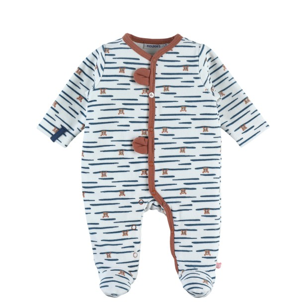 Ecru velvet Sleep Well tiger pajamas