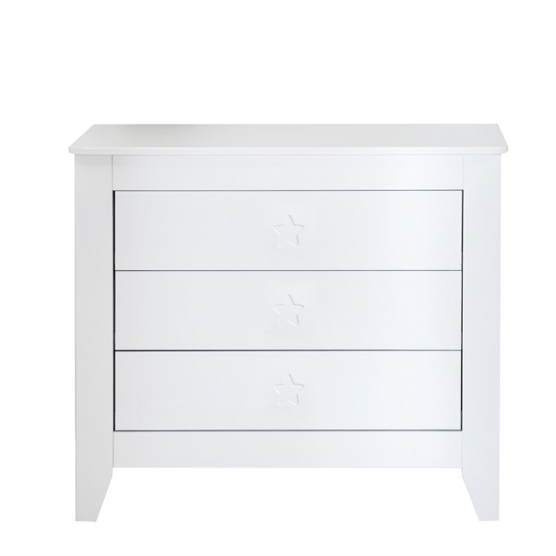 Chest Of Drawers White Star