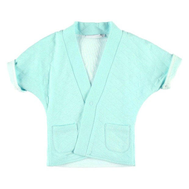 Quilted jersey kimono jacket