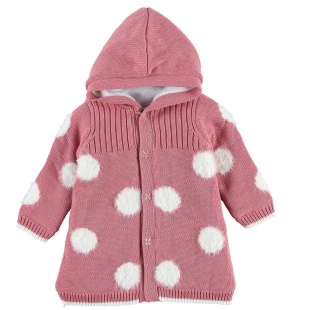 Pink Tricoloudoux mantelet with polka dots