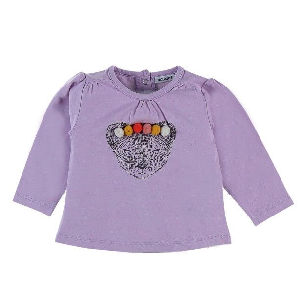 Long sleeve lilac tiger t-shirt