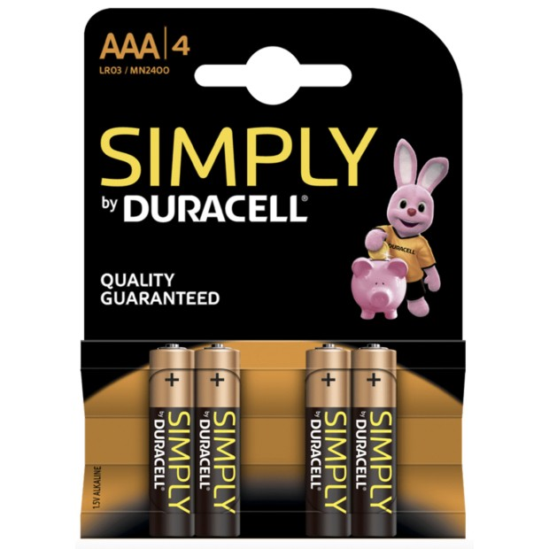 Pack 4 AAA batteries