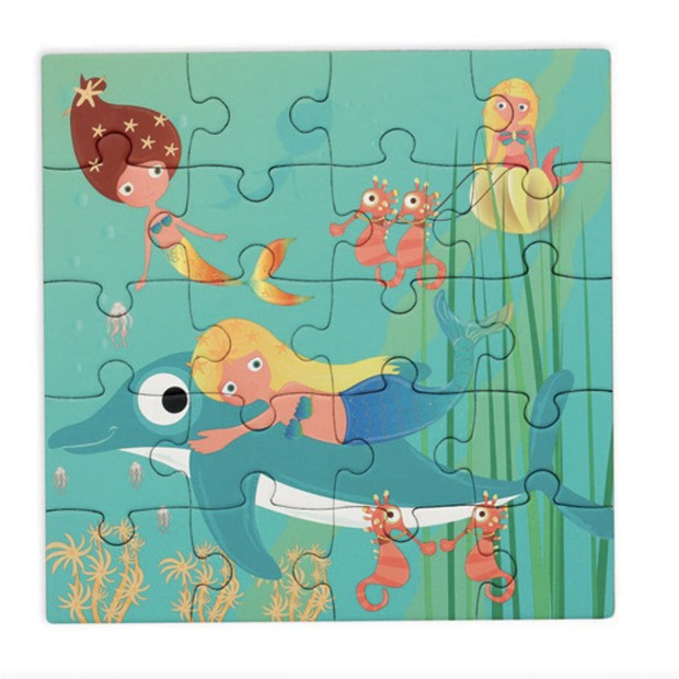2 magnetic puzzle book of 20 pieces, mermaid