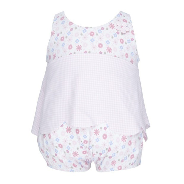Vichy Pink Swimsuit Double Protection