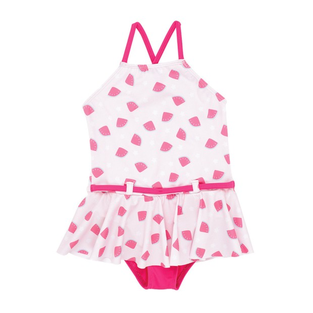 Bahamas Pink Swimsuit With Watermelon Print