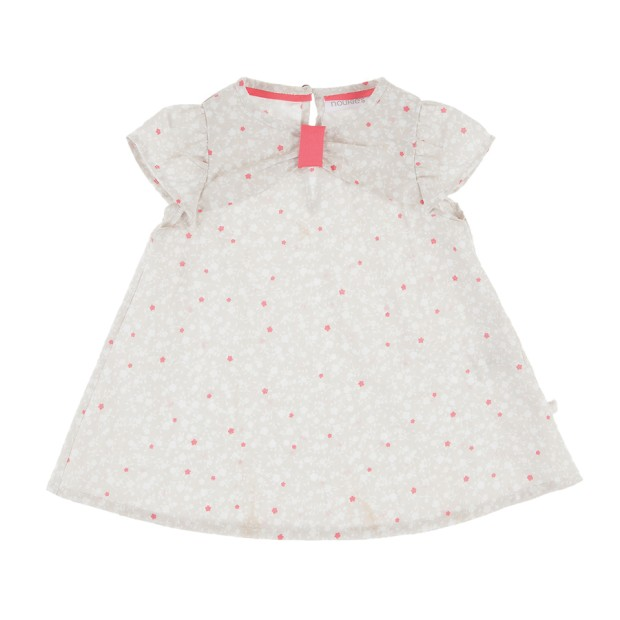 Dotted Dress With Printed Bloomer