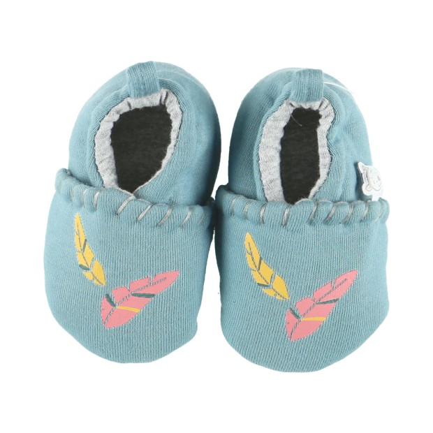 Embroidered jersey slippers