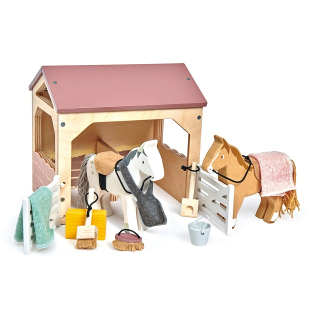 Stable and 2 ponies