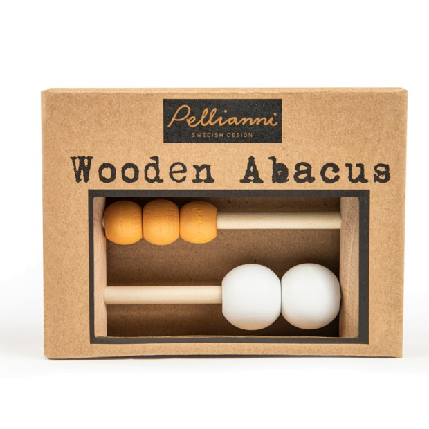 Pastel wooden abacus