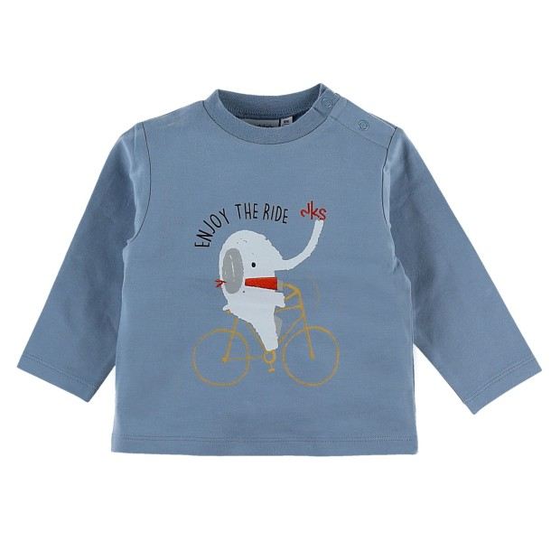 Long sleeve blue t-shirt