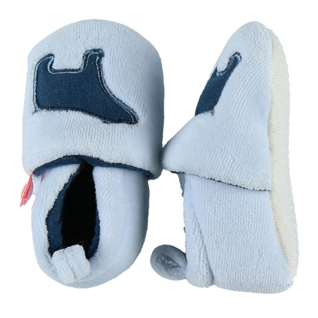 Blue Veloudoux slippers