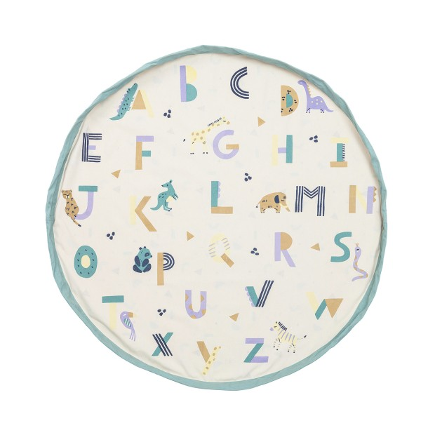 Toy storage bag, playmat, Learn the alphabet