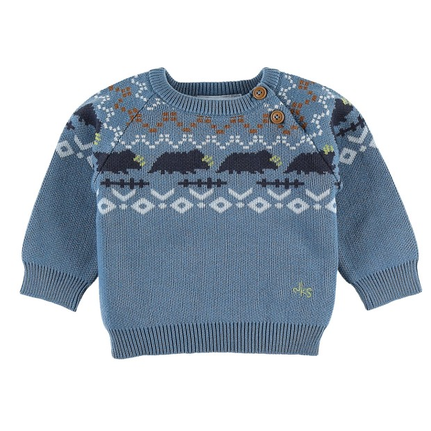Knitted mineral blue Christmas sweater