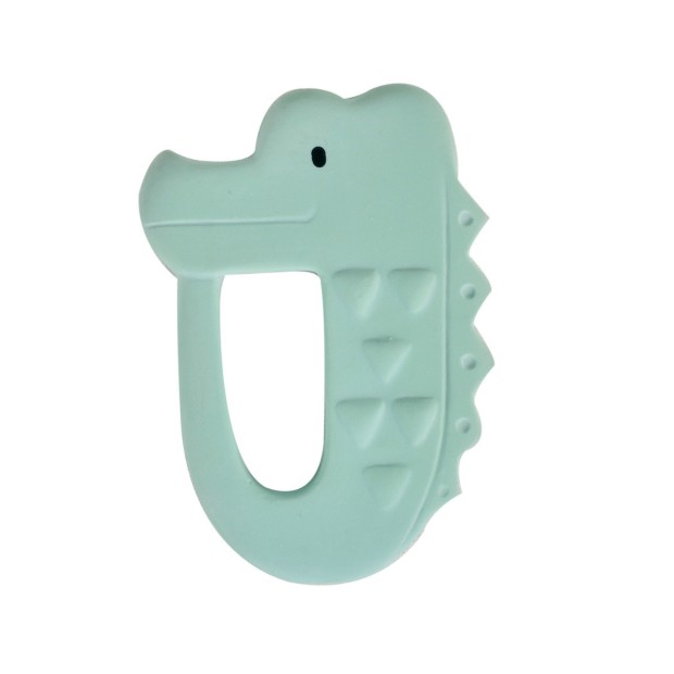 Teething ring corcodile natural rubber