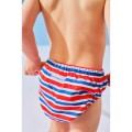Swimming trunks Striped Red