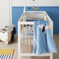 Veloudoux ice blue and ecru Blanket from Aston & Jack collection