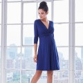 Front Knot 3/4 Sleves Dress