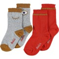 2 Pairs of socks Cotton Grey