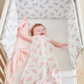 M&M20 LIGHT PINK SET 3 SWADDLES 70X7CM - ORGANIC