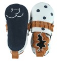 Slippers Dots Leather White