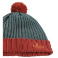 Knitted forest green beanie