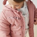 Pink and sequin down jacket