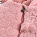 Pink hooded pilot suit for baby in Groloudoux®