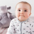 Jersey sleepsuit pyjamas with cloud pattern
