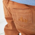 Camel twill trousers