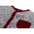 Grey velvet Sleep Well pajamas with lama pattern
